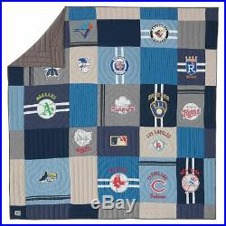 NEW Pottery Barn TEEN American League MLB Cooperstown TWIN XL/TWIN Quilt