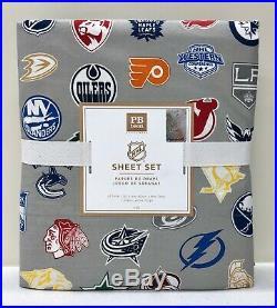 NEW Pottery Barn TEEN Eastern & Western NHL Hockey Logo TWINTWIN XL Sheet Set