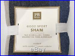 NEW Pottery Barn TEEN Good Sport Striped TWINTWIN XL Quilt & STANDARD Sham