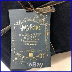 NEW Pottery Barn TEEN Harry Potter Hogwarts House FULL/QUEEN Duvet CoverBlue