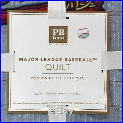 NEW Pottery Barn TEEN Major League Baseball MLB Logo Patch TWIN XLTWIN Quilt
