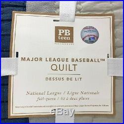 NEW Pottery Barn TEEN Major League Baseball MLB National League FULL/QUEEN Quilt
