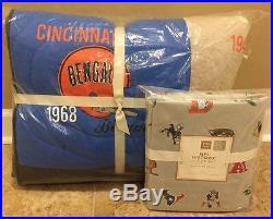 NEW Pottery Barn Teen NFL Historic TWIN XL Quilt + Sheet Set AFC