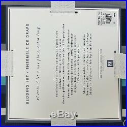 NEW Pottery Barn Teen Sideline Stripe XL TWIN Value Comforter sheet Set 5pc Navy