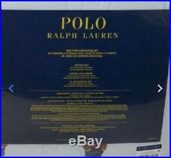 NEW Ralph Lauren Polo BOY Teddy Bear TWIN Comforter SET with 1 Sham