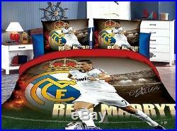 NEW Ronaldo Football bedding Set Children's Boy's bedroom decora duvet cover
