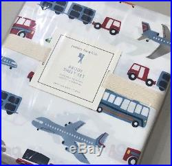 NIP 3P Pottery Barn Kids BRODY Trucks Transportation Cotton Sheet Set TWIN