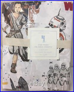 NIP 3P Pottery Barn Kids Star Wars THE FORCE AWAKENS Cotton Sheet Set TWIN