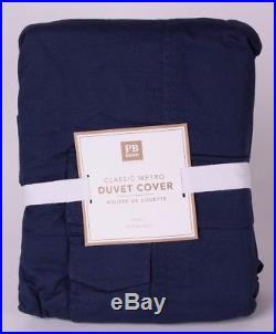 NWT PB Pottery Barn Teen Classic Metro twin duvet cover navy blue