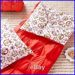 NWT POTTERY BARN TEEN/KIDS CHRISTMAS DR. SEUSS Grinch Sleeping Bag & Pillowcase