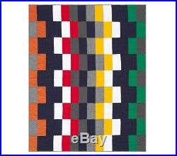 NWT Pottery Barn Kids Logan twin quilt & standard sham green red orange blue