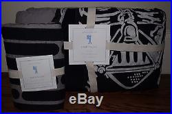 NWT Pottery Barn Kids Star Wars Darth Vader twin quilt & euro sham gray
