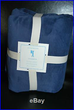 NWT Pottery Barn Kids win Navy Chamois Fitted Sheet Soft