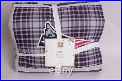 NWT Pottery Barn PB Teen NFL AFC football twin quilt Patriots Colts Raiders