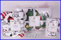 NWT Pottery Barn PB Teen Peanuts Holiday twin quilt, sham & sheet set Christmas