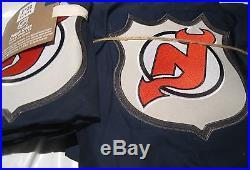 New Jersey NHL DEVILS POTTERY BARN Twin Duvet Cover + Sham Hockey Patch Navy NIP