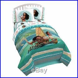 New Kids Disney Moana Bed In A Bag / Comforter Set 3 Prints