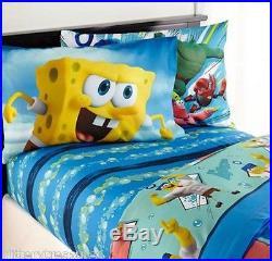 New Kids S Boys Spongebob Bedding Bed In A Bag Comforter Set