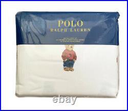 New POLO RALPH LAUREN Boy Bear Twin Size Bed Sheets 4 pcs Set