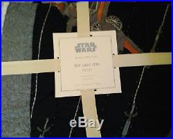 New Pottery Barn Kids LAST JEDI Twin QUILT & SHEETS Star Wars