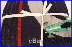 New Pottery Barn Kids Race Car twin quilt blue navy qty available