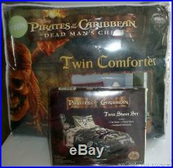 NewDisney Pirates of the Caribbean Boys Comforter Sheets Pillow Case Bedding Set