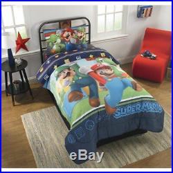 Nintendo Super Mario Bros Twin Single Comforter & Sheets (4 Pc Bedding)