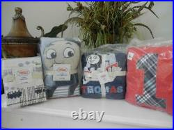 Nip Thomas & Friends 7 Pc Twin Embroidered Applique Quilt Pillow Throw Sheet Set