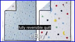 Nwt Hanna Andersson Cotton Reversible Galaxy Rocket Quilt Twin $179 New