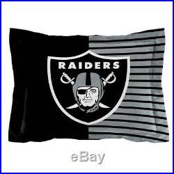 Oakland Raiders NFL Twin 2 Piece Comforter Bedding Team Logo Bed in Bag Set