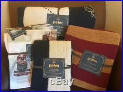 POTTERY BARN KIDS Harry Potter Patchwork Twin Quilt Sham Duvet & Sheets Set NEW
