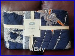 POTTERY BARN KIDS Star Wars The Last Jedi Twin Quilt only NEW