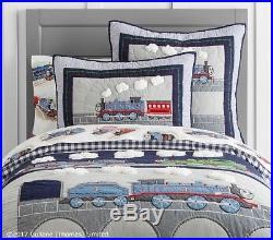 POTTERY BARN KIDS Thomas & Friends Twin Quilt, Sheet Set & Sham 5 pc Set NEW
