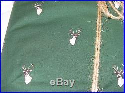 POTTERY BARN TEEN Creature Comfort Deer Twin + 2 Standard Cases 26 x 20 Green