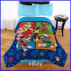 Paw Patrol Bedding Twin / Full Comforter Sherpa Reverse Kids Toddler Boys Bed