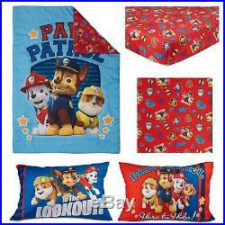 Paw Patrol Kids Toddler/Crib Bed Set 4 Piece Comforter Sheets Etc (2-Day SH)