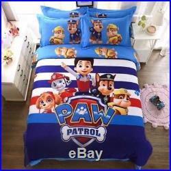 Paw Patrol King Queen & Twin Size Duvet Cover Bedding Set Kids Boys Girls