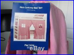 Pier 1 Imports KIDS Pink Bunk Bed Tent Cover Bedding Canopy Twin Sheet Play Set