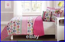 Pink Cupcake 4 Pcs Twin/ Full Size Kids Boys Girls Quilt/ Shams/ Cushion Set