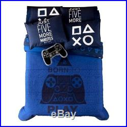Play-station Ps4 Teens Boys Original Reversible Comforter Set 2 Pcs Twin Size