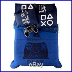 Play-station Ps4 Teens Boys Original Reversible Comforter Set 5 Pcs Twin Size