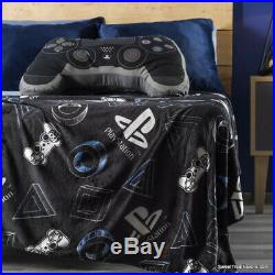 Playstation Teens Kids Boys Light Blanket PS4 Comforter TWIN Cushion Set 2PCS