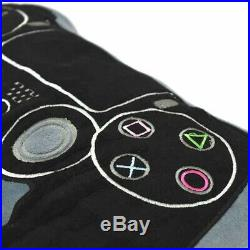 Playstation Teens Kids Boys Light Blanket Ps4 And Cushion Set 2pcs Twin Size