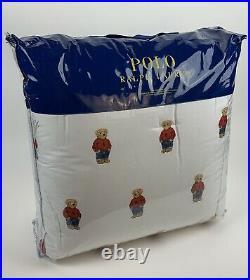 Polo Ralph Lauren Boy Polo Bear Twin Comforter Set Includes One Pillow Sham New