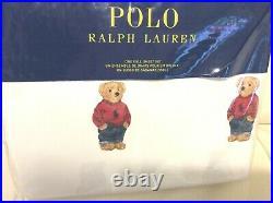 Polo Ralph Lauren Boy Teddy Bear Full Sheet Set NWT! 100% Cotton