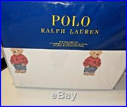 Polo Ralph Lauren Boy Teddy Bear Twin Comforter Set & Twin Sheet Set