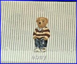 Polo Ralph Lauren Boy's Bear Sheet Set BLUE STRIPE All Sizes