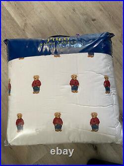 Polo Ralph Lauren Boys POLO BEAR Comforter Set Twin NWT