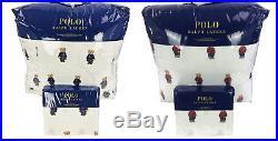 Polo Ralph Lauren Girl / Boy Teddy Bear Twin Size Comforter Set Twin Sheet Set
