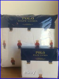 Polo Ralph Lauren Polo Teddy Bear Red Sweatshirt Boy Comforter & Sheet Set TWIN